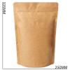 Koffiezak Kraft hersluitbaar/zipper met ventiel (1000 gram) met afmetingen