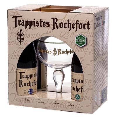 Trappistes Rochefort Geschenkverpakking bierpakket met gratis glas