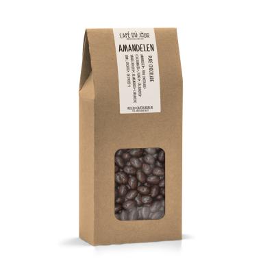 Amandelen in pure chocolade 250 gram