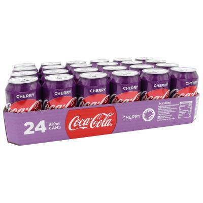 Coca Cola cherry 330 ml. / tray 24 blikken