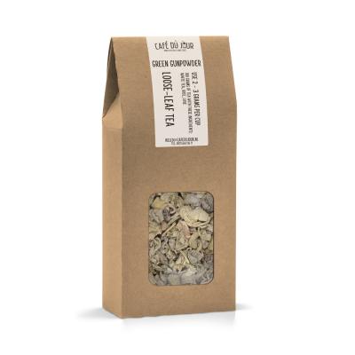 Green Gunpowder - groene thee 100 gram - Café du Jour losse thee