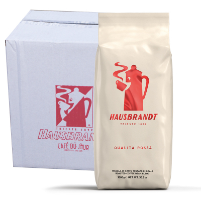 Caffè Hausbrandt Qualità Rossa koffiebonen 6 x 1 kilo