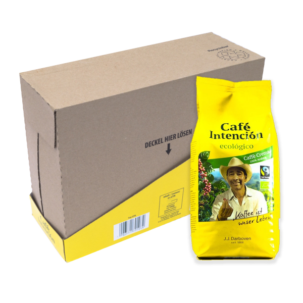 Café Intención Ecológico Caffé Crema 4 kg koffiebonen voordeeldoos colli verpakkingseenheid