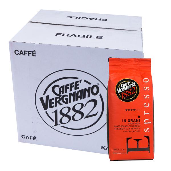 Caffè Vergnano 1882 Espresso Koffiebonen 6 x 1 kilo VPE