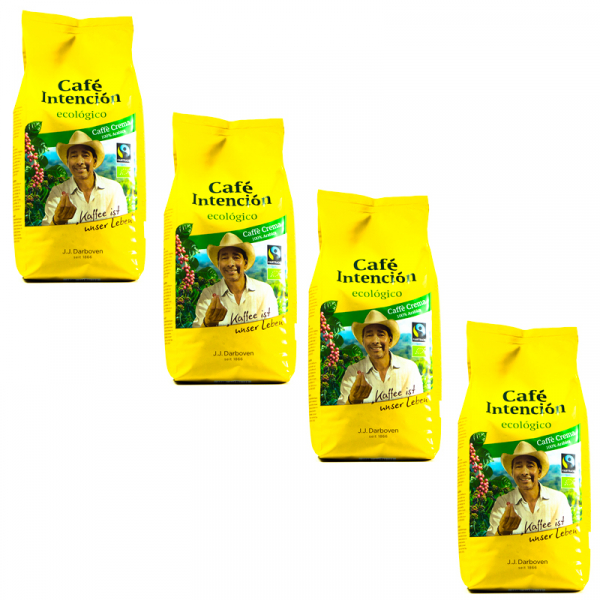 Café Intención Ecológico Caffé Crema 4 kg koffiebonen voordeeldoos