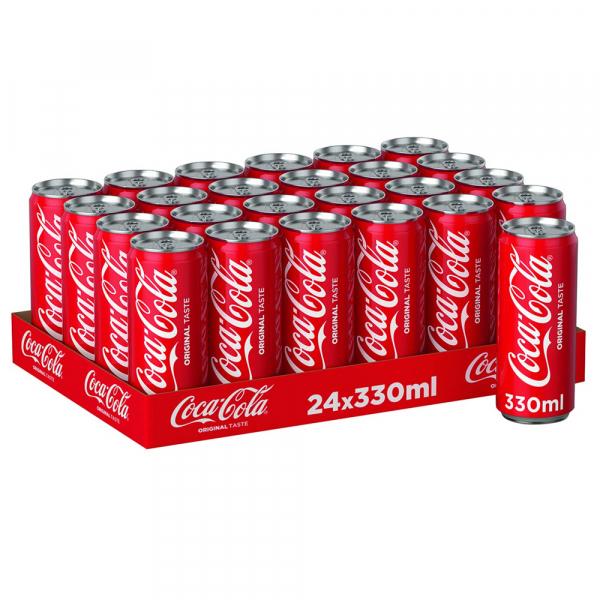 Coca Cola 330 ml. slim-can / tray 24 blikken
