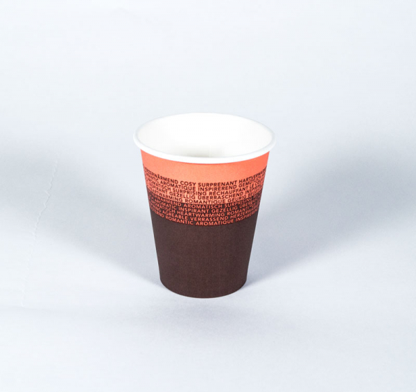 50 stuks kartonnen koffiebekers 'inspirerend' (200cc/8oz)
