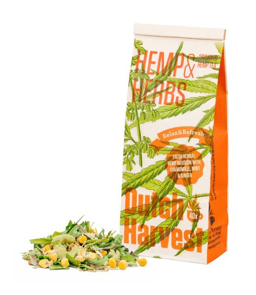 Hemp & Herbs - Hennep- & Kruidenmix thee 40 gram - Biologisch - Dutch Harvest losse thee