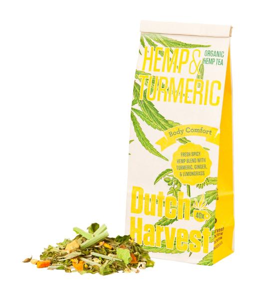 Hemp & Turmeric - Hennep- & Kurkuma thee 50 gram - Biologisch - Dutch Harvest losse thee