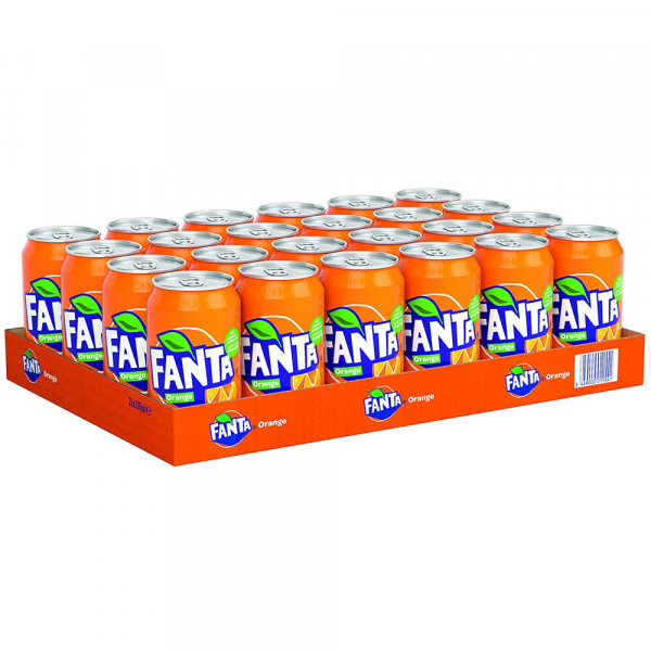 Fanta orange 330 ml. / tray 24 blikken