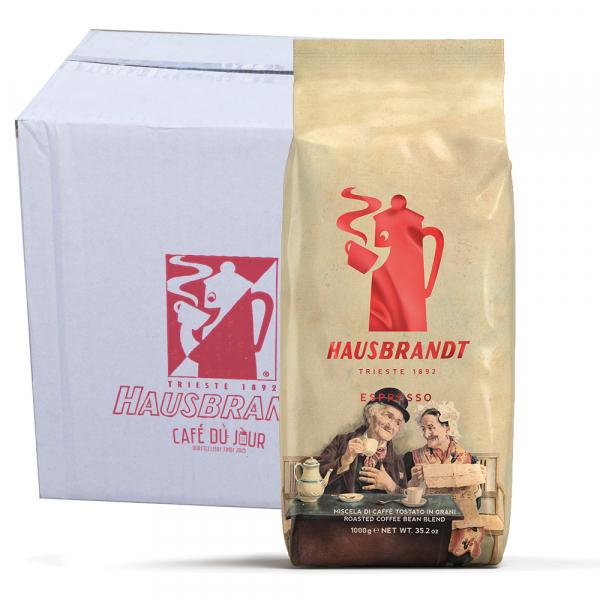 Caffè Hausbrandt Espresso (Nonnetti) koffiebonen 6 x 1 kilo