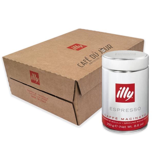 Illy Rood (normale branding) gemalen koffie 12 x 250 gram