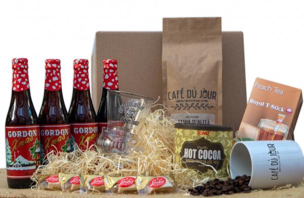 Café du Jour feestdagen geschenkpakket: Bier, Koffie, Thee, Chocolademelk