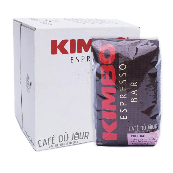 Kimbo Prestige Koffiebonen 6 kg koffiebonen VPE verpakkingseenheid colli