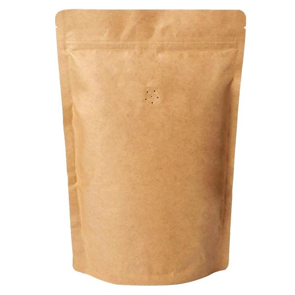 koffiezak Kraft hersluitbaar/zipper met ventiel (200 x 1000 gram)