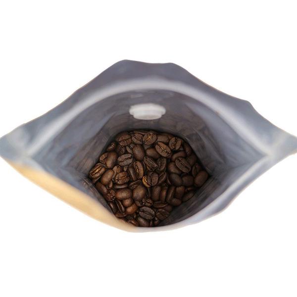 Koffiezak Kraft hersluitbaar/zipper met ventiel (1000 gram) binnenkant