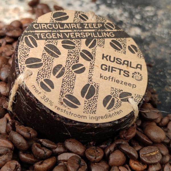 Circulaire Koffiezeep - zeep gemaakt van koffie tegen verspilling