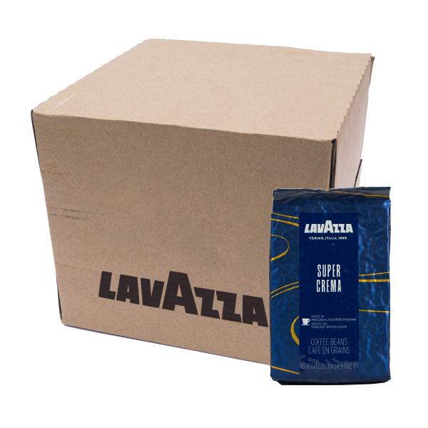 Lavazza Super Crema Espresso Koffiebonen 6 x 1 kilo Doos