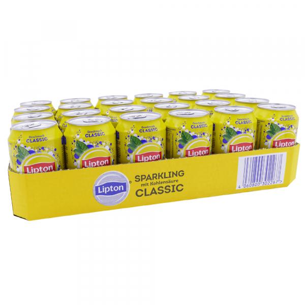 Lipton Ice Tea Sparkling Classic 330 ml. / tray 24 blikken