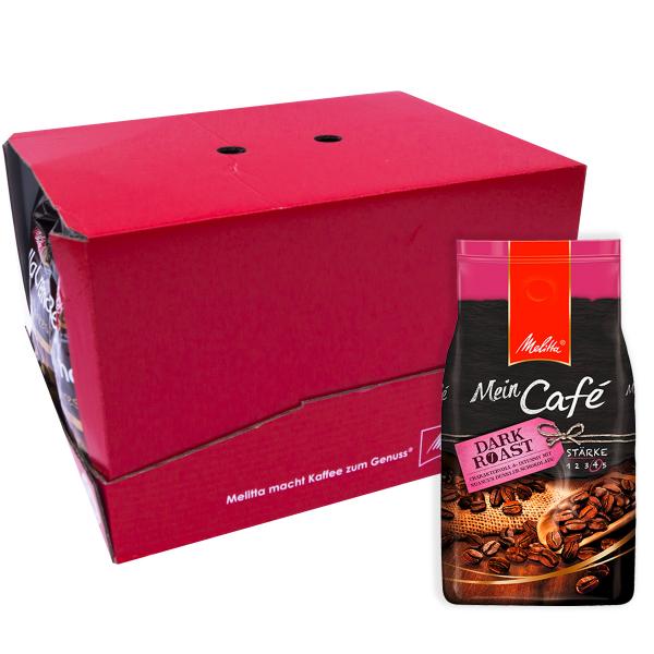 Melitta Mein Café Dark Roast 8 kg koffiebonen verpakkingseenheid VPE colli