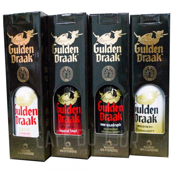 Gulden Draak Groot 4 x 75cl Geschenkpakket in geschenkkokers