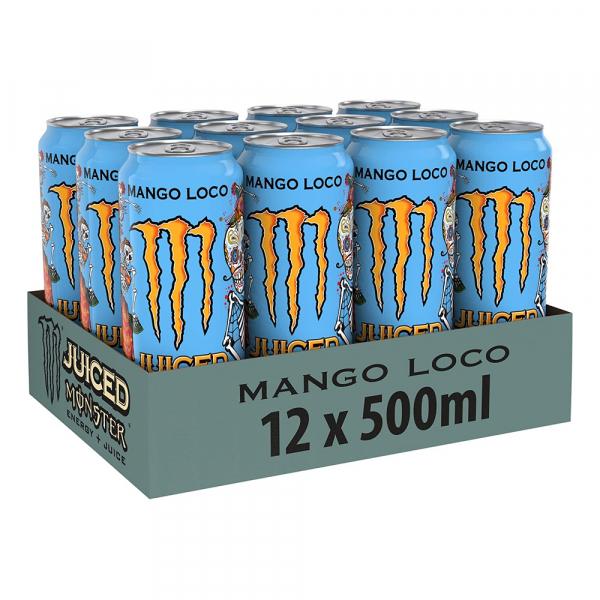 Monster Mango Loco 500 ml. / tray 12 blikken