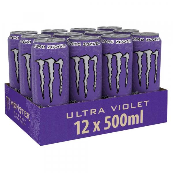 Monster ultra violet 500 ml. / tray 12 blikken