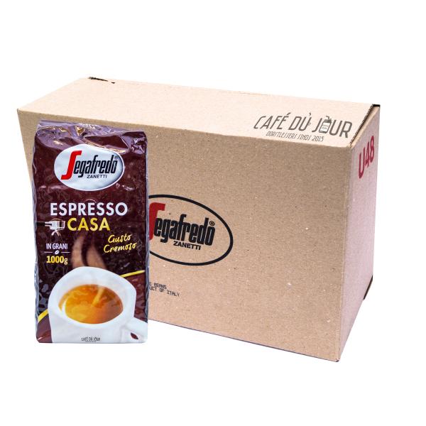 Segafredo Espresso Casa 8 kg koffiebonen verpakkingseenheid omdoos 8 kilo