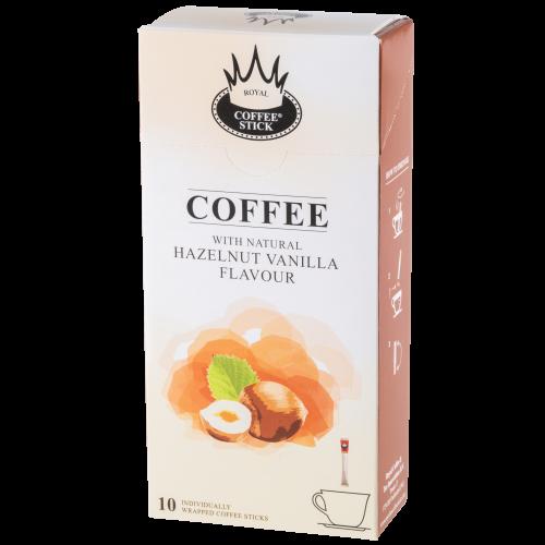 Royal T-Stick Coffee: hazelnoot vanille koffiesticks (10 stuks)