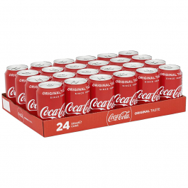 Coca Cola 330 ml. / tray 24 blikken
