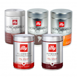 illy - koffiebonen - proefpakket 5 x 250 gram