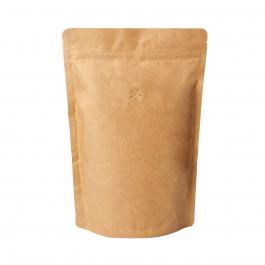 Koffiezak Kraft hersluitbaar/zipper met ventiel (500 gram)