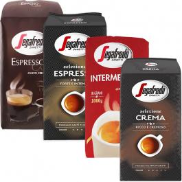 Segafredo proefpakket koffiebonen 4 x 1 kilo
