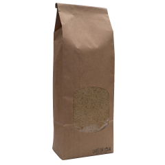 Groene gemalen koffie in verpakking