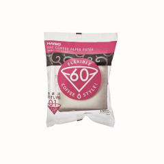 Hario Koffiefilters V60 Maat 01 Kleur Wit (100 stuks)