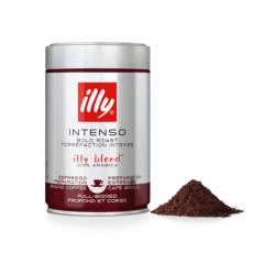 Illy donkere branding (zwart) intenso 250 gram gemalen koffie