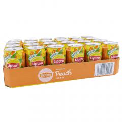Lipton Ice Tea peach 330 ml. / tray 24 blikken