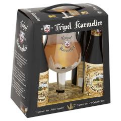 Tripel Karmeliet geschenkverpakking bierpakket met gratis glas