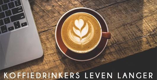 Mensen die koffie drinken leven langer